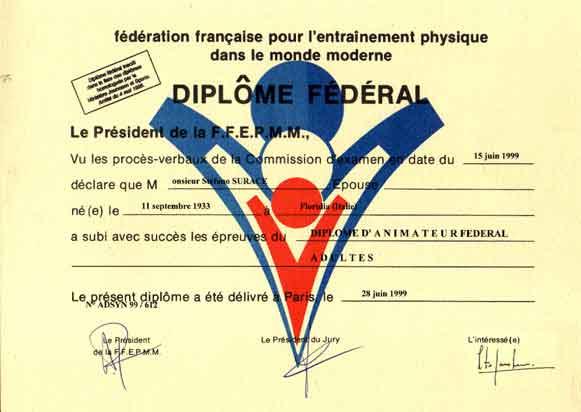 Diplôme fédéral Instructeur FFEPMM