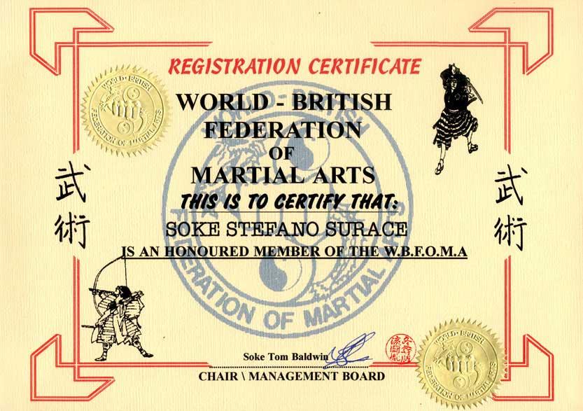 Diplôme British federation of M.A.
