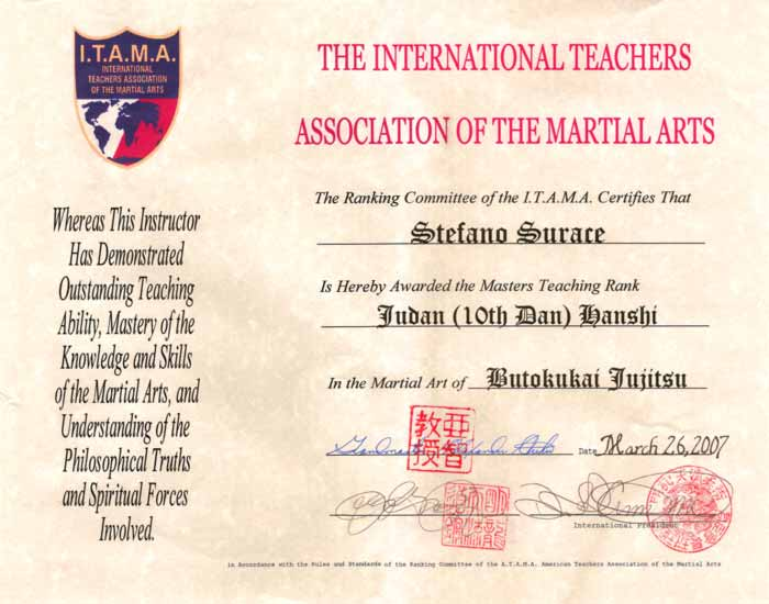 The International Teachers Association of the Martial Arts
